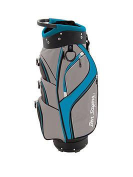 Ben Sayers   Dlx Cart Bag ¿ Grey/Turquoise
