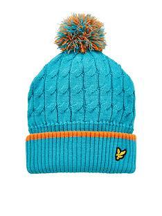 lyle-scott-boys-knit-ribbed-beanie-bobble-hat