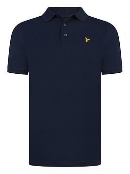 Lyle & Scott Lyle & Scott Boys Classic Short Sleeve Polo Shirt - Navy Picture