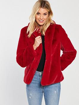 v-by-very-luxe-faux-fur-jacket-red