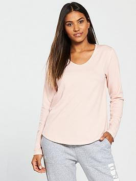 under-armour-pindot-open-back-long-sleeve-top-blush