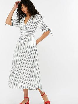 monsoon-farley-stripe-linen-dress-white