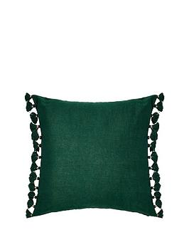monsoon-linen-tassel-cushion