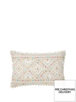 monsoon-pastel-bead-raffia-cushion