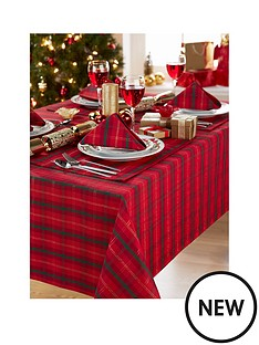 jacquard-metallic-tartan-tablecloth