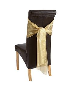 pack-of-4-metallic-organza-chair-bows-ndash-gold