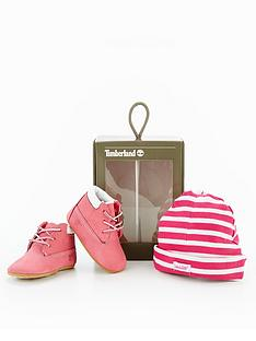 timberland-crib-bootie-with-hat-fuchsia