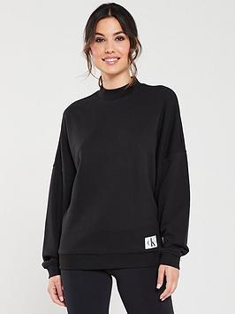 calvin-klein-long-sleeve-lounge-sweater-black