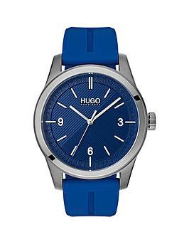 hugo-hugo-create-blue-3-hand-dial-with-blue-rubber-strap-mens-watch
