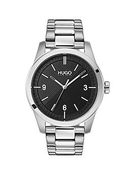 HUGO Hugo Create Black 3-Hand Dial Analogue Mens Watch With Stainless  ... Picture
