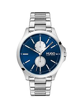 HUGO Hugo Jump Bluemulti Dial With Stainless Steel Bracelet Strap Mens  ... Picture