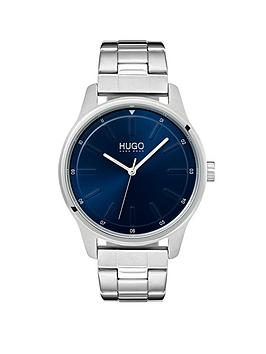 hugo-hugo-dare-blue-3-hand-dial-with-stainless-steel-bracelet-mens-watch