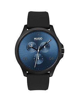 hugo-hugo-risk-blue-multi-dial-with-black-rubber-strap-mens-watch