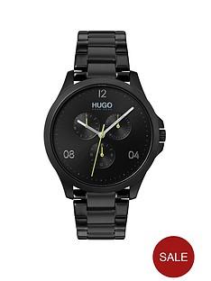 hugo-risk-multi-dial-mens-black-stainless-steel-bracelet-strap-watch