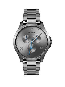 hugo-risk-grey-multi-dial-mens-stainless-steel-bracelet-strap-watch