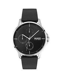 hugo-focus-black-multi-dial-watch-with-black-leather-strap