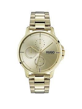 HUGO Hugo Focus Gold Ip Multi-Dial Watch With Gold Ip Stainless Steel  ... Picture