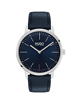 HUGO Hugo Hugo Exist Blue 2 Hand Dial With Blue Leatehr Strap Mens Watch Picture