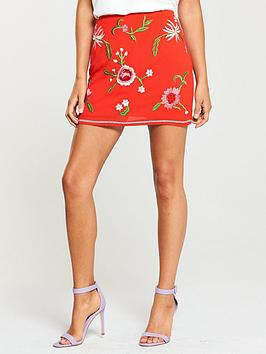 miss-selfridge-embroidered-a-line-skirt