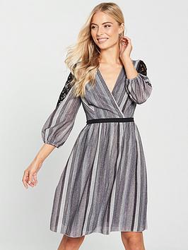 little-mistress-metallic-stripe-lace-insert-mini-dress-slatenbsp
