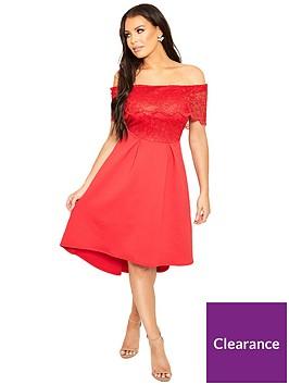 sistaglam-loves-jessica-bardot-crochet-top-skater-dress-red