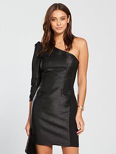 little-mistress-one-shoulder-lurex-mini-dress-blacknbsp