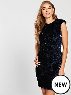 little-mistress-velvet-sequin-mini-dress-navy