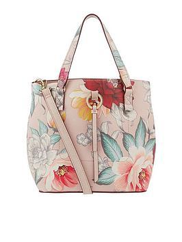 accessorize-mocha-double-handle-bucket-bag-multi