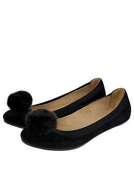 accessorize-lauren-pom-pom-suede-ballerina-flats-black