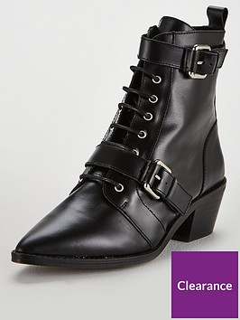 office-ambassador-buckle-lace-up-leather-pointed-calf-boots-black