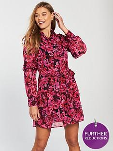 v-by-very-tie-waist-ruffle-skirt-shirt-dress-print