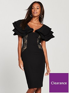v-by-very-lace-panel-ruffle-shoulder-dress-black