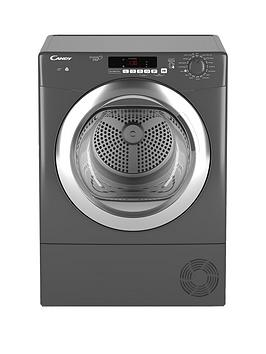 Candy   Grand'O Vita Gvsc9Dcgr 9Kg Load Condenser Sensor Tumble Dryer With Smart Touch - Graphite
