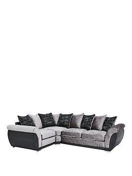 Very Alexa Fabric And Faux Leather Left Hand Scatter Back Corner Group Sofa Picture