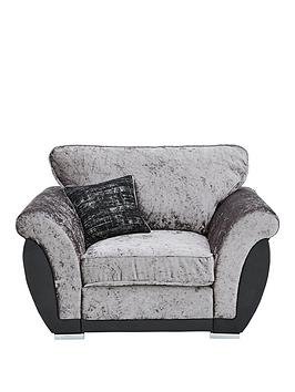 Very  Alexa Fabric And Faux Leather Armchair