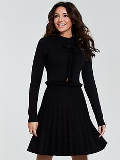 michelle-keegan-lace-insert-knitted-dress-black