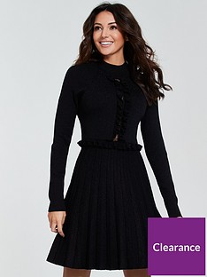 michelle-keegan-lace-insert-knitted-dress-black
