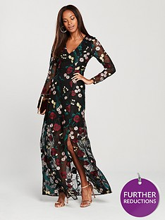 v-by-very-v-neck-embroidered-sheer-split-maxi-dress--nbspfloral