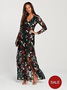 v-by-very-v-neck-embroidered-sheer-split-maxi-dress--nbspfloral