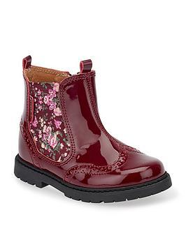 start-rite chelsea floral girls boot