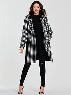 michelle-keegan-colour-block-check-coat-monochrome