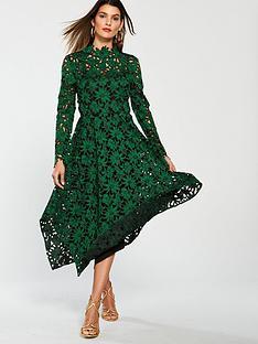 v-by-very-scallop-lacenbspmidi-dress-greennbsp