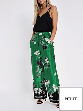 ri-petite-petite-floral-print-wide-leg-trouser-green