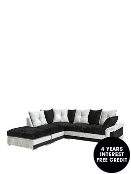 avenue-fabric-left-hand-corner-chaise-scatter-back-sofa-footstool
