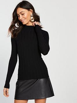 river-island-ribbed-jumper-black