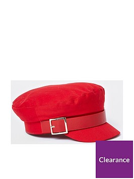 river-island-buckle-baker-boy-hat-red