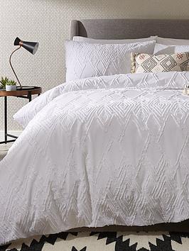 ideal-home-textured-diamond-200-thread-count-100-cotton-duvet-cover-set