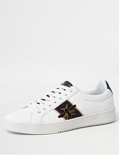 river-island-white-wasp-embroidered-trainers