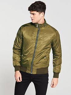 river-island-dark-green-racer-neck-jacket