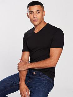 river-island-black-muscle-fit-v-neck-t-shirt